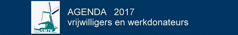 Agendapunten 2017 voor de vrijwilligers SMZK