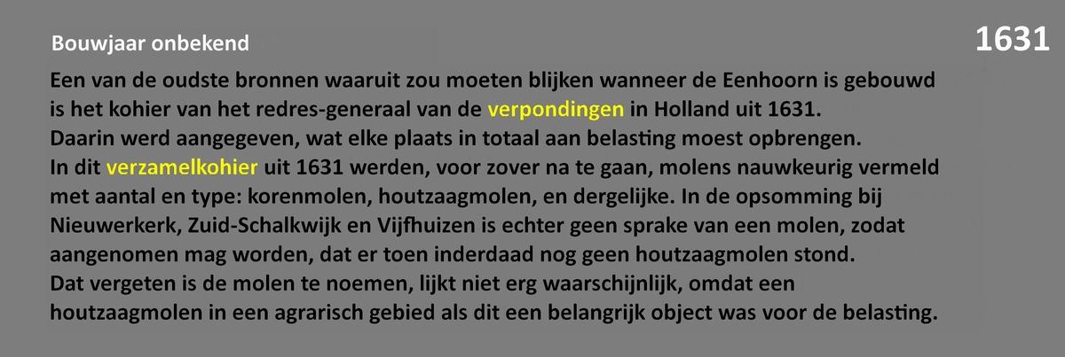 De geschiedenis van paltrokmolen De Eenhoorn.