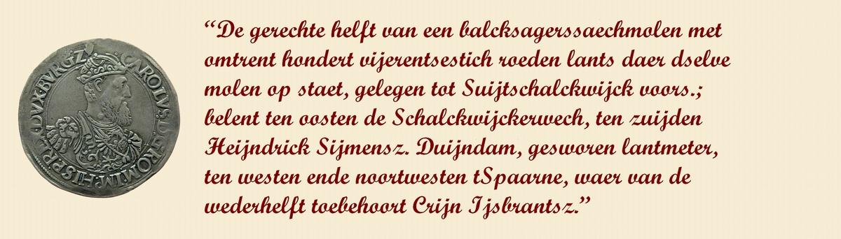 De geschiedenis van paltrokmolen De Eenhoort te Haarlem