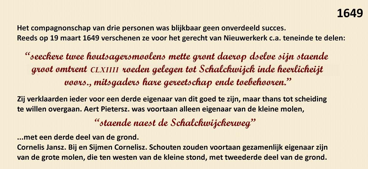 Geschiedenis van paltrokmolen De Eenhoorn.